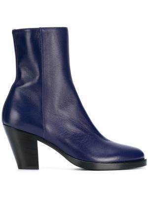Side zip ankle boots A.F.Vandevorst. Цвет: синий