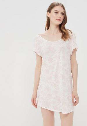 Платье домашнее Sela. Цвет: белый