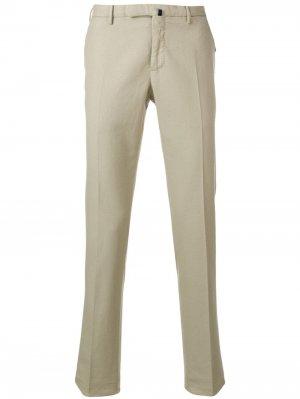 Классические брюки строгого кроя Incotex. Цвет: нейтральные цвета