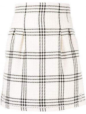 Твидовая юбка мини MSGM. Цвет: нейтральные цвета