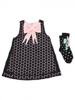 Комплект из платья и носков WAUW CAPOW by BANGBANG. Цвет: черный