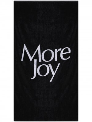 Полотенце  с логотипом More Joy. Цвет: черный