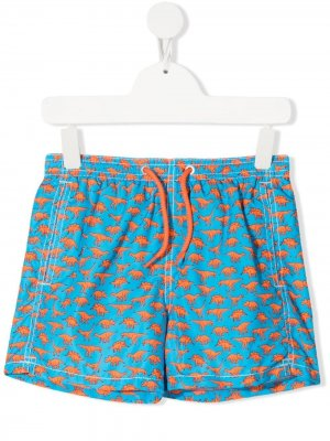 Плавки-шорты Jean Lighting с анималистичным принтом Mc2 Saint Barth. Цвет: синий