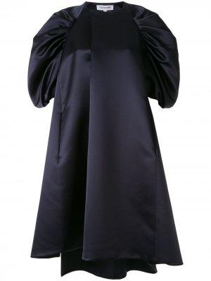 Платье-трапеция с пышными рукавами Dice Kayek. Цвет: синий
