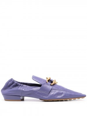 Мокасины Madame Bottega Veneta. Цвет: фиолетовый