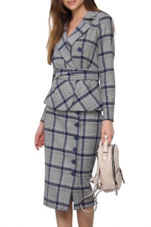 Костюм: пиджак, юбка, пояс AVEMOD. Цвет: электрик