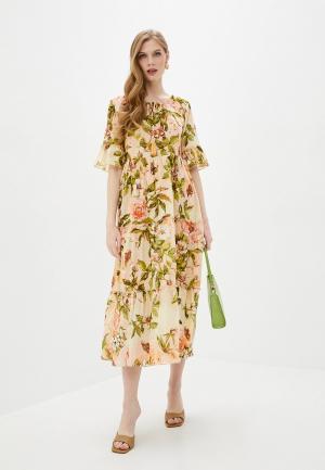 Платье Fabretti. Цвет: розовый