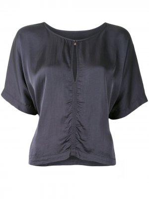 Блузка со сборками Raquel Allegra. Цвет: синий
