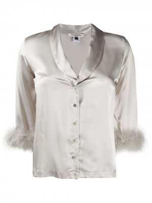 Пижамный топ Kitty Gilda & Pearl. Цвет: серебристый