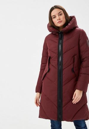 Куртка утепленная Clasna. Цвет: бордовый