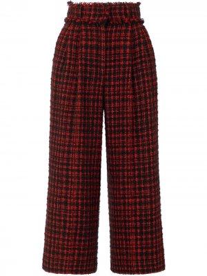 Укороченные твидовые кюлоты Dolce & Gabbana. Цвет: красный