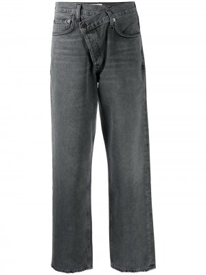 Зауженные джинсы Balloon с завышенной талией AGOLDE. Цвет: серый