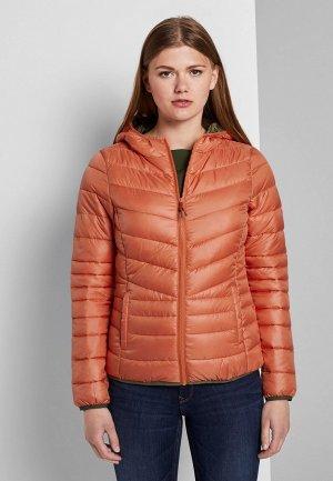 Куртка утепленная Tom Tailor Denim. Цвет: оранжевый