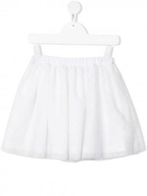 Пышная юбка Douuod Kids. Цвет: белый