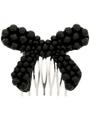 Заколка для волос с бантом Simone Rocha. Цвет: черный