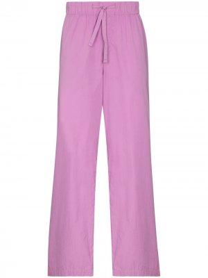 Пижамные брюки из органического хлопка TEKLA. Цвет: розовый