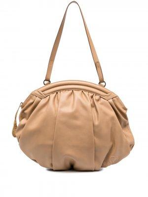 Большая сумка-хобо Rodo. Цвет: нейтральные цвета