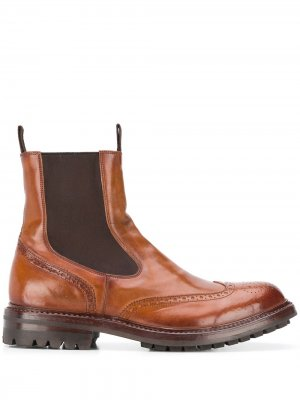 Exeter leather ankle boots Officine Creative. Цвет: коричневый