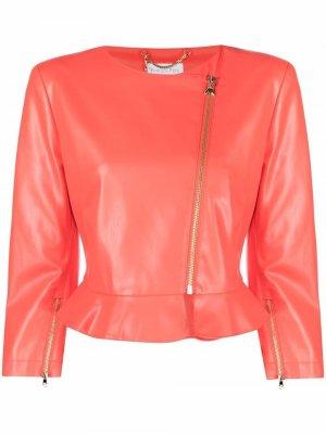 Куртка на молнии Patrizia Pepe. Цвет: розовый