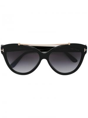 Солнцезащитные очки с оправой кошачий глаз Tom Ford Eyewear. Цвет: черный