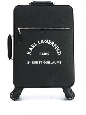 Чемодан с логотипом Karl Lagerfeld. Цвет: черный