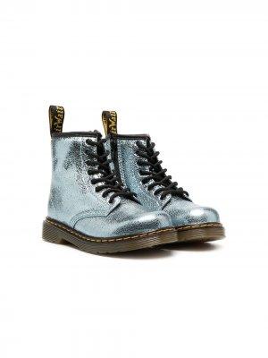 Ботинки 1460 с эффектом металлик Dr. Martens Kids. Цвет: синий