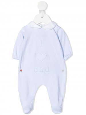 Пижама с принтом I Love Dad Little Bear. Цвет: синий