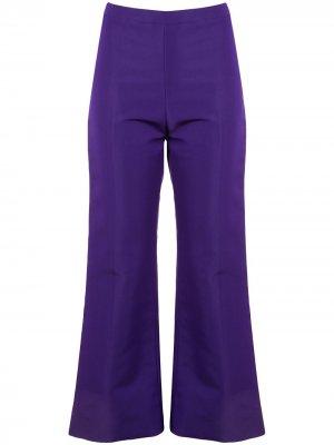 Укороченные расклешенные брюки Christian Siriano. Цвет: фиолетовый