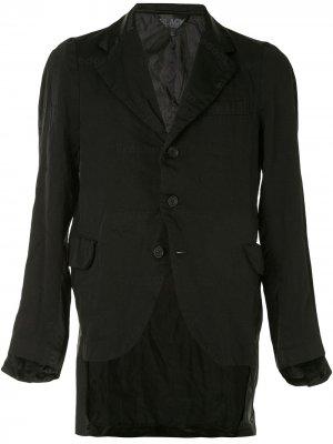 Жакет с атласными вставками Black Comme Des Garçons. Цвет: черный