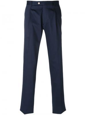 Прямые брюки чинос Etro. Цвет: синий