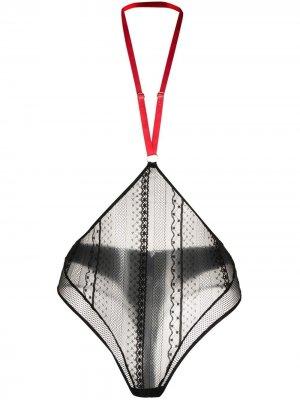 Трусы-стринги Sacré Cœur с ремешком на шею Maison Close. Цвет: черный