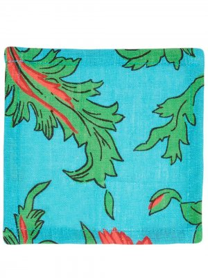 Набор салфеток с принтом Snapdragon La Doublej. Цвет: синий
