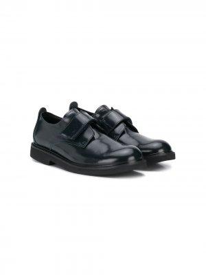Туфли с ремешками на липучках LANVIN Enfant. Цвет: синий