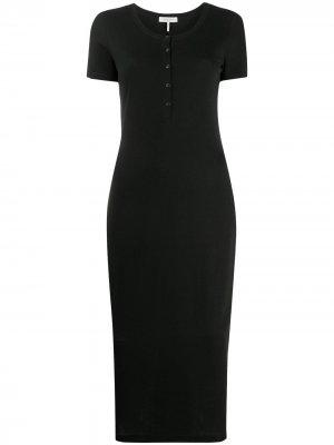Облегающее платье миди Rag & Bone. Цвет: черный