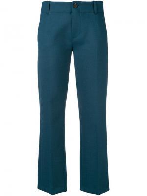 Укороченные брюки Alysi. Цвет: зеленый