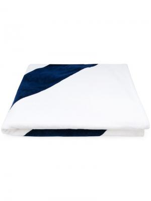 Пляжное полотенце с полосками Thom Browne. Цвет: белый