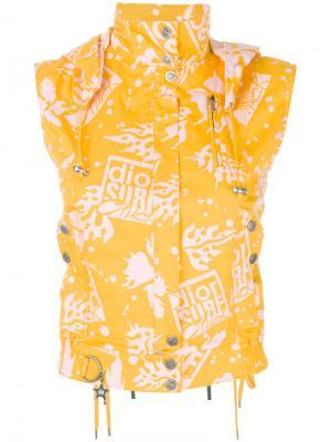 Жилет pre-owned Christian Dior. Цвет: желтый