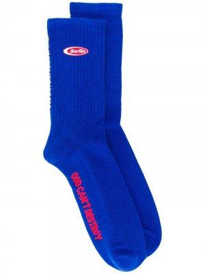 Носки с графичным логотипом Gcds. Цвет: синий