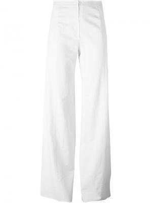 Широкие брюки Emanuel Ungaro Pre-Owned. Цвет: белый