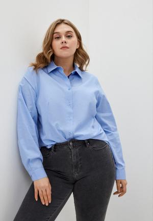 Рубашка Persona by Marina Rinaldi. Цвет: голубой