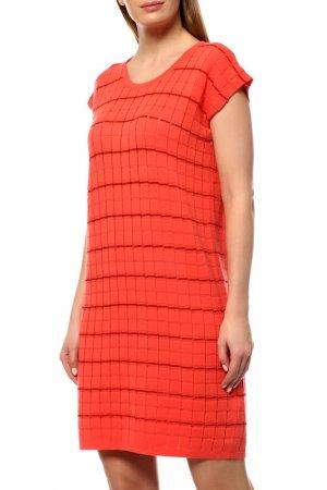 Платье Cruciani. Цвет: коралловый