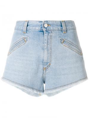 Джинсовые шорты с необработанным низом Fiorucci. Цвет: синий