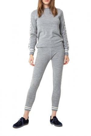 Комплект: свитер, брюки BGN. Цвет: melange grey