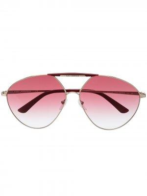 Солнцезащитные очки-авиаторы Navigator Karl Lagerfeld. Цвет: красный