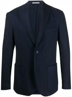 Однобортный пиджак Eleventy. Цвет: синий