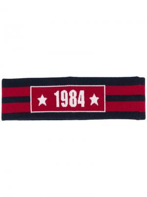 Трикотажная повязка на голову 1984 Dolce & Gabbana. Цвет: синий