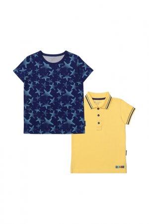 Комплект: футболка, рубашка Kogankids. Цвет: синий
