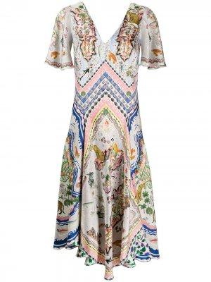Платье Sedona Emma с принтом Liberty London. Цвет: белый