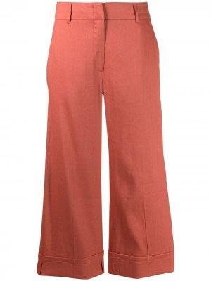 Укороченные брюки широкого кроя Seventy. Цвет: оранжевый