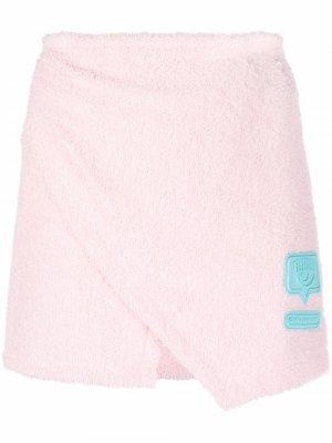 Мини-юбка Eyelike с запахом Chiara Ferragni. Цвет: розовый